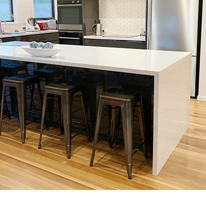 wooden counter tables