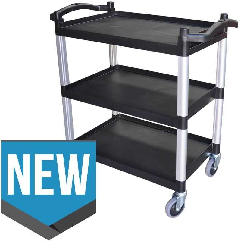 NEW Polypropylene Catering Trolley, 3-Tier With Castors, 823 X 405 x 850mm high