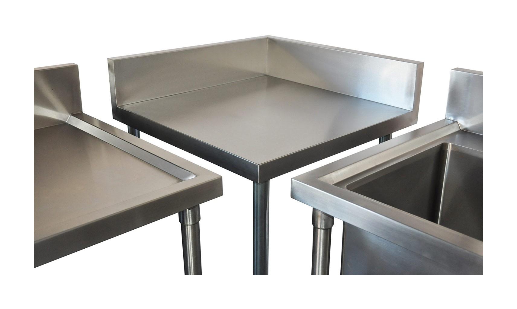 Stainless Undershelf for Corner Bench