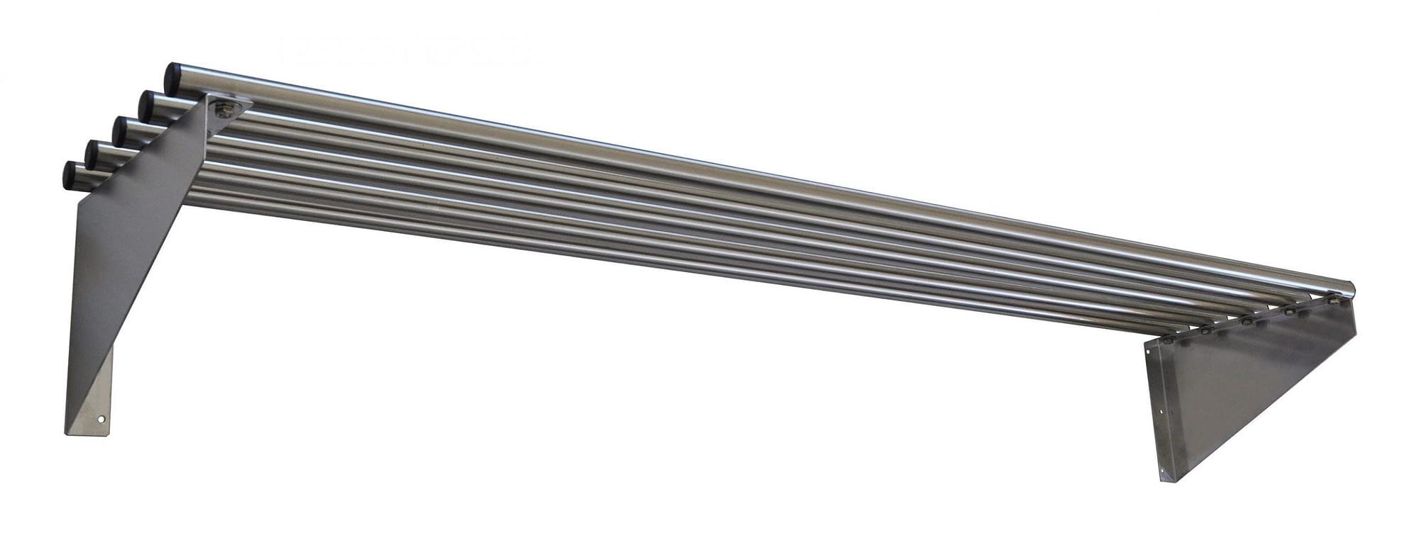 Stainless Steel Restaurant Pipe Wall Shelves, 1500 X 300mm deep-0