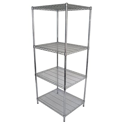 Chrome Dry Store Wire Shelving 4 Tier, 762 X 610 deep x 1800mm high-0