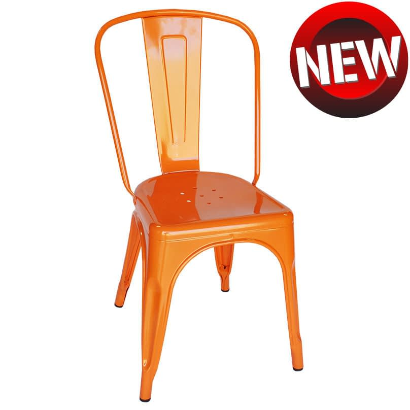 Replica Xavier Pauchard Tolix Chair, Orange