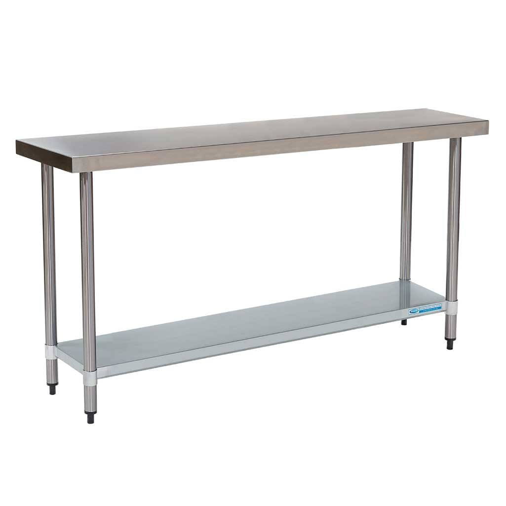 Commercial Grade Stainless Steel Flat Bench 1500 x 450 x 900mm high