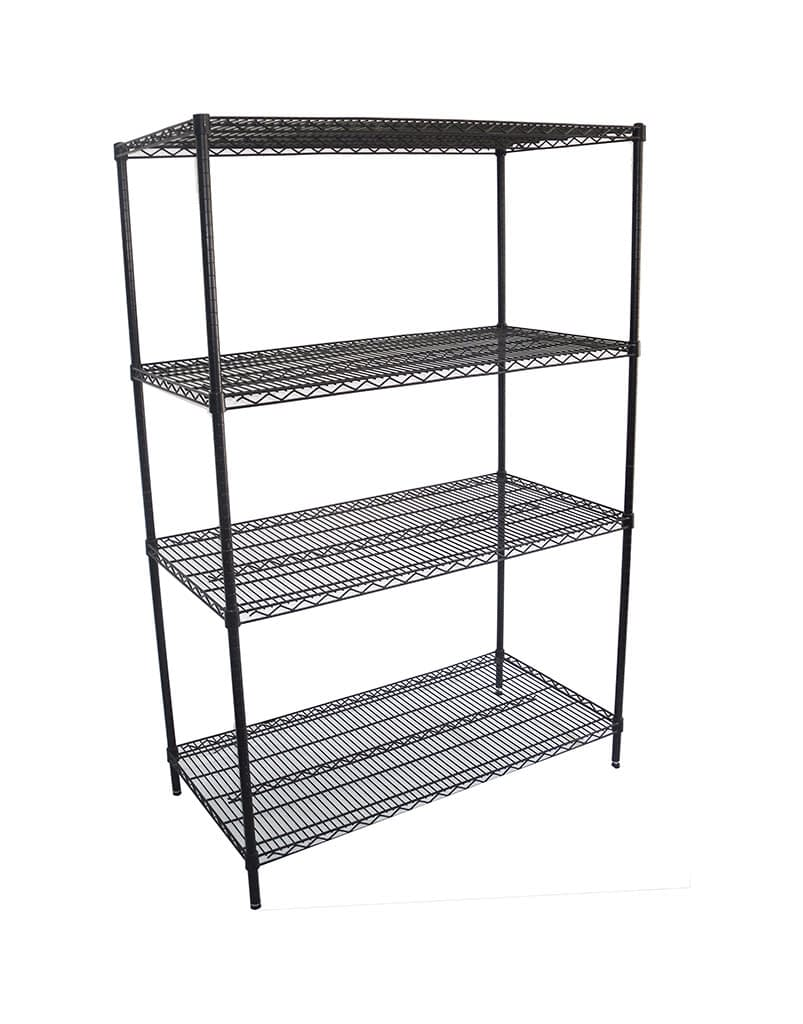Epoxy Wire Shelving For Coolroom/Dry Store, 4 Tier, 1219 X 610 deep x 1800mm high