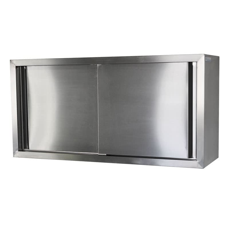 Stainless Steel Commercial Kitchen Wall Cabinet, 1200 x 380 x 600mm high