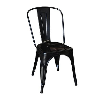 Replica Xavier Pauchard Tolix High Back Chair, Matt Black -0