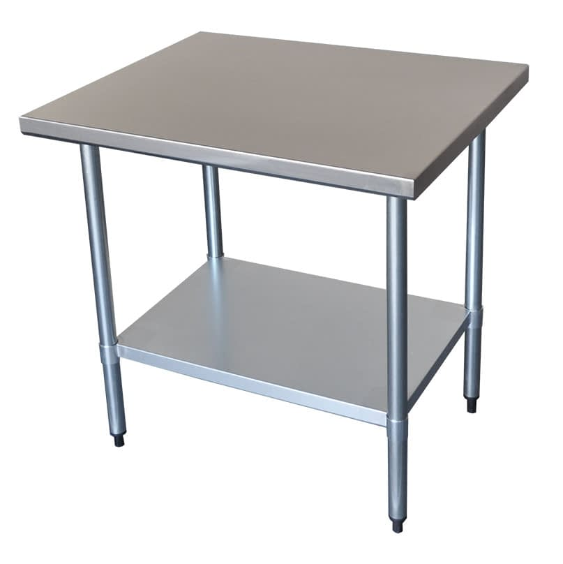 Commercial Grade Stainless Steel Bench, 914 x 914 x 900mm high