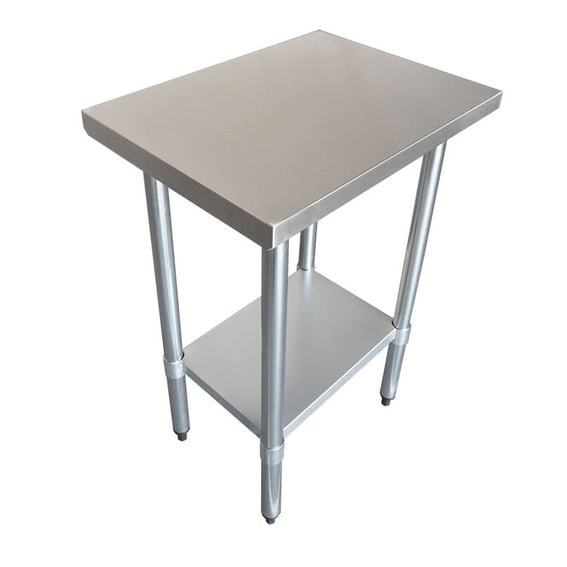 Commercial Grade Stainless Steel Flat Bench, 762 x 457 x 900mm high