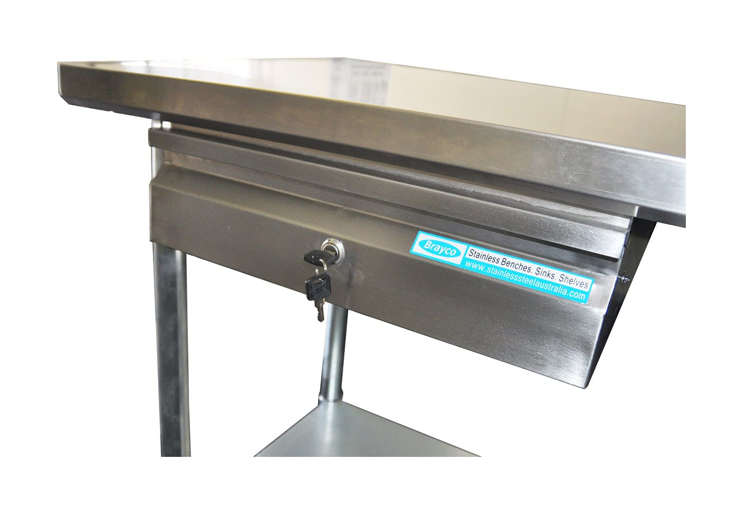 Single Underbench drawer for Stainless Benches
