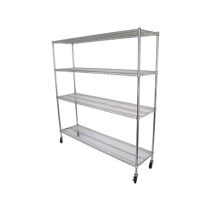 Chrome Dry Store Shelf 4 Tier, 1829 X 457 deep x 1800mm high-0