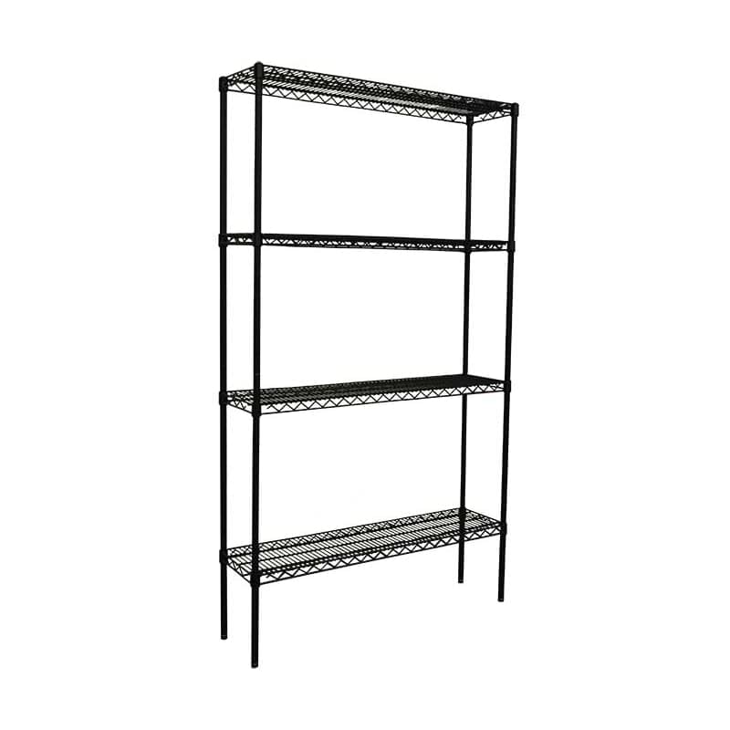 Epoxy Wire Shelving For Coolroom/Dry Store, 4 Tier, 914 wide x 305 deep x 1800mm high