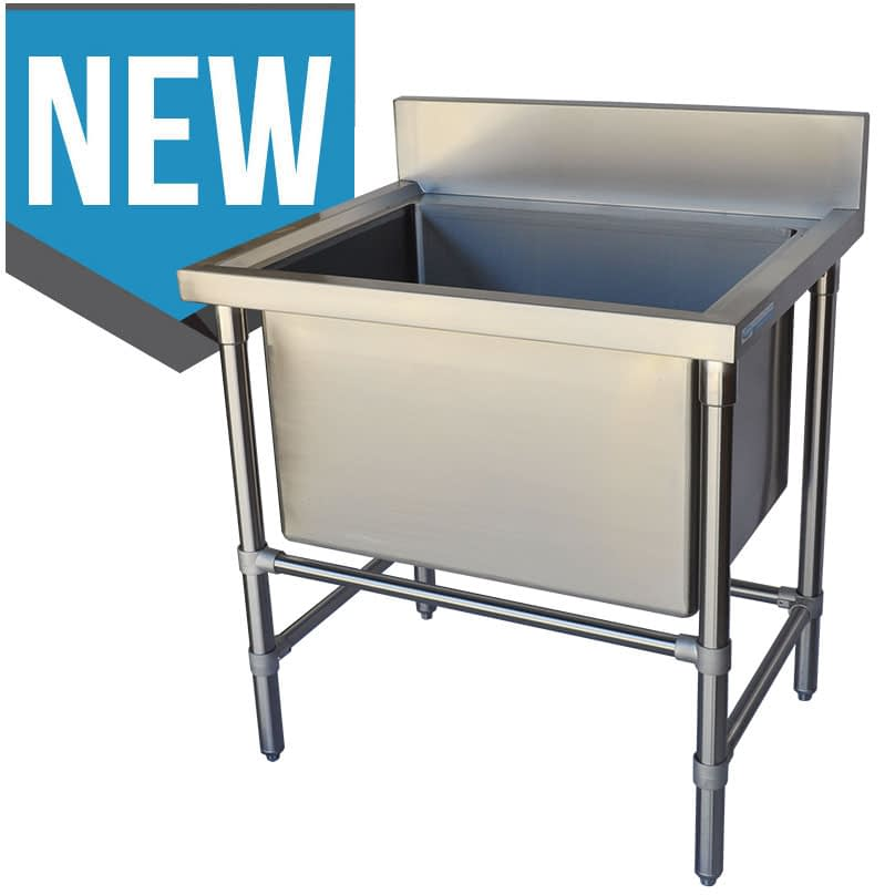 Stainless Catering Sink, 850 x 700 x 900mm high