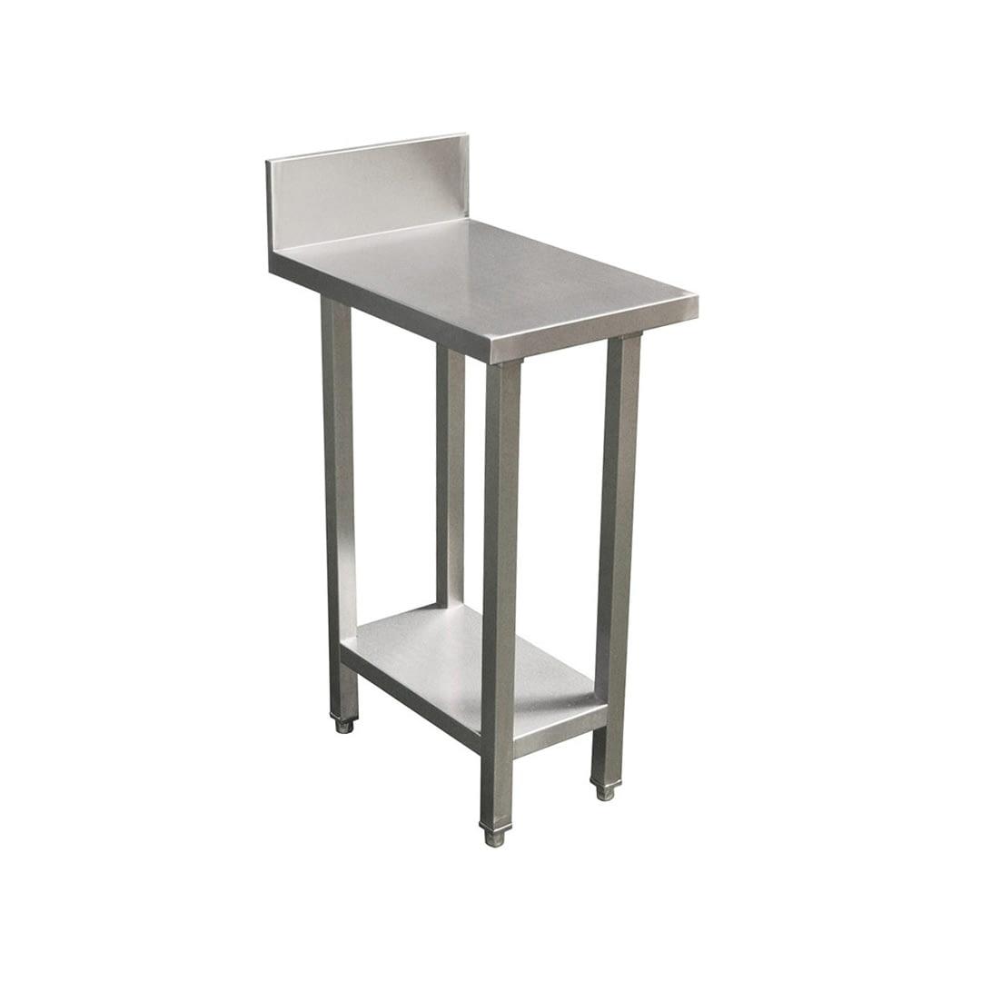 Commercial Grade Stainless Steel Splashback Bench, Premium Range 400 X 610 X 900mm high