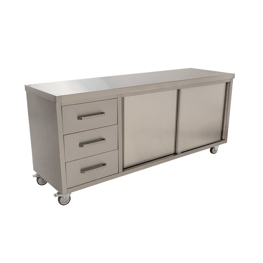 Stainless Steel Commercial Kitchen Cabinet, 2000 x 610 x 900mm high