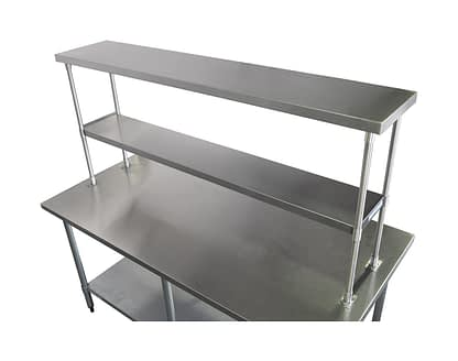 Stainless Steel 2-Tier Over Shelves, 1750 X 350mm-0