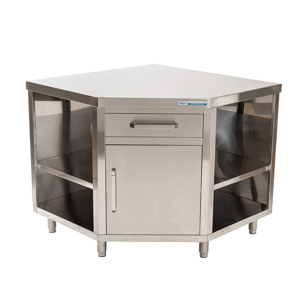 Stainless Corner Cabinet, 1000 x 1000 x 900mm high