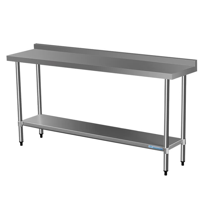 Commercial Grade Stainless Steel Narrow Splashback Bench, 1800 X 450 x 900mm high
