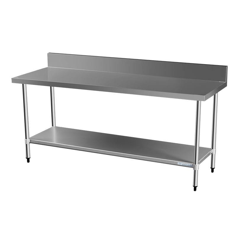 Commercial Grade Stainless Steel Splashback Bench, 2000 X 700 x 900mm high